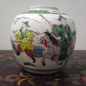 西厢人物罐