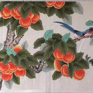 中央美院凌雪老师四尺整纸工笔画作品《事事如意》