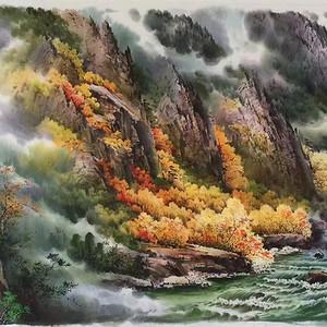 朝鲜功勋画家作品
