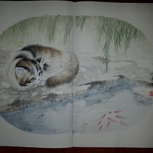 联盟 《收藏精品》苏州工笔花鸟画家:应竹鸣手绘 12幅大型画册一套