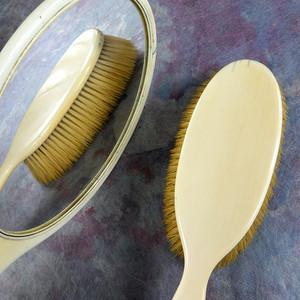 19世纪大镜子毛刷一套