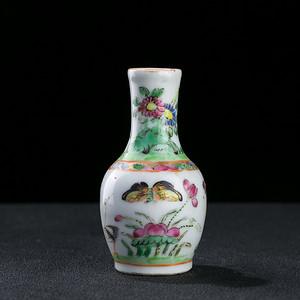 清广彩花卉小瓶