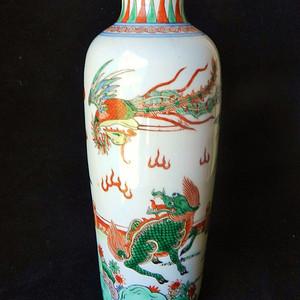 麒麟凤凰纹筒瓶