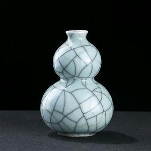 清 哥釉葫芦瓶