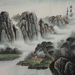 联盟 李墨款山水画:山居图