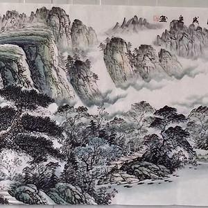 中美协吴成建老师小六尺山水