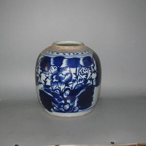 青花牡丹大罐 全品