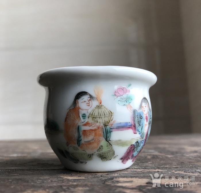 清 粉彩鸟食罐一只图9