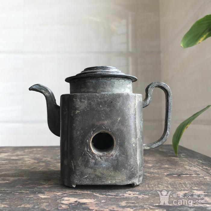清  诗酒趁年华 锡质温酒壶图9