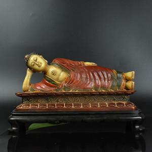 联盟 鸿福斋包邮寿山石精品鎏金大日如来雕像