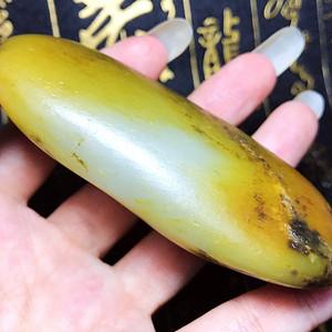 真皮真籽!纯天然新疆和田玉籽料黄沁籽玉大原石摆件手玩件!