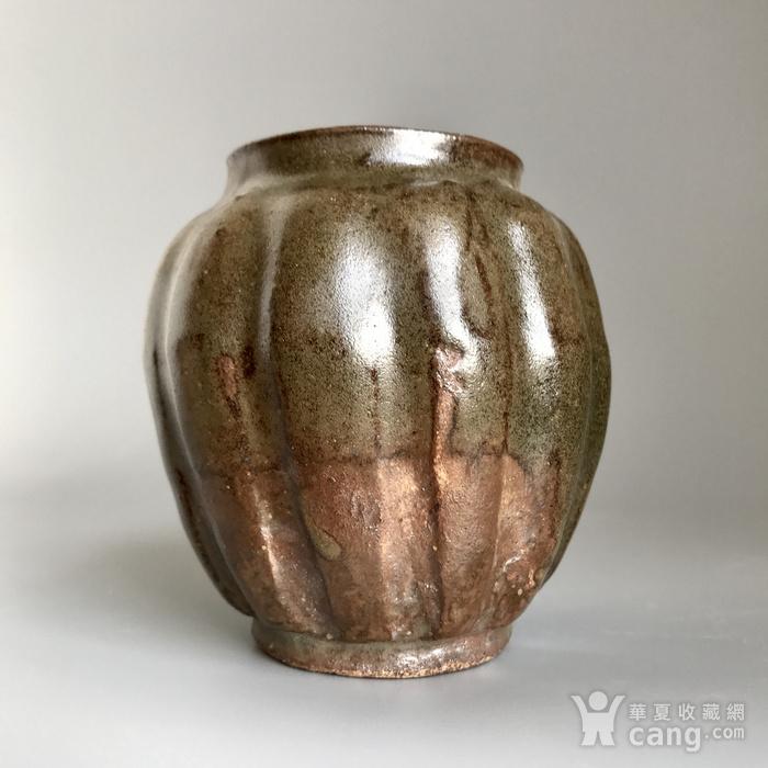 精品古瓷 明清茶叶末釉瓜棱小罐一只图9