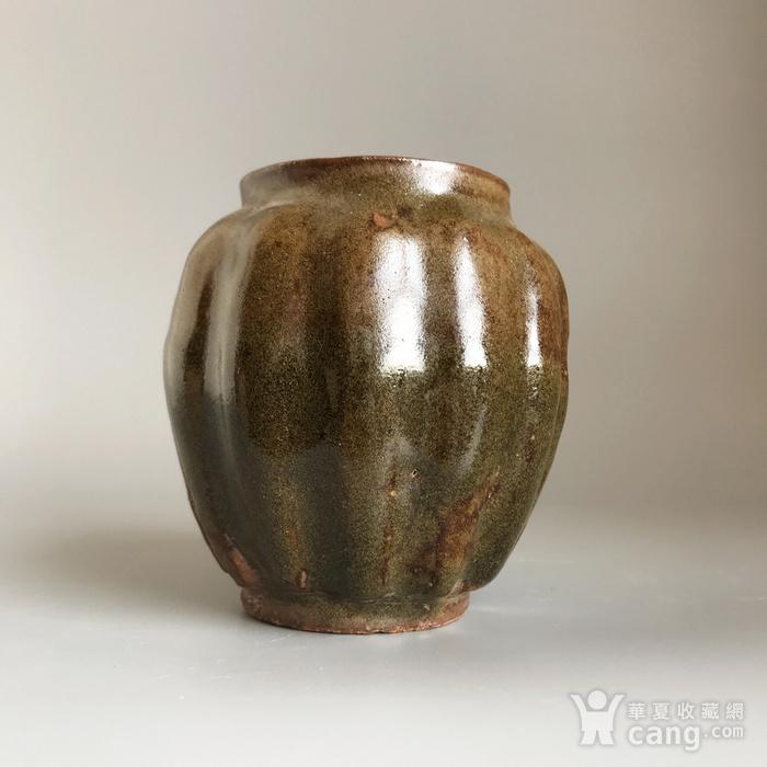 精品古瓷 明清茶叶末釉瓜棱小罐一只图10