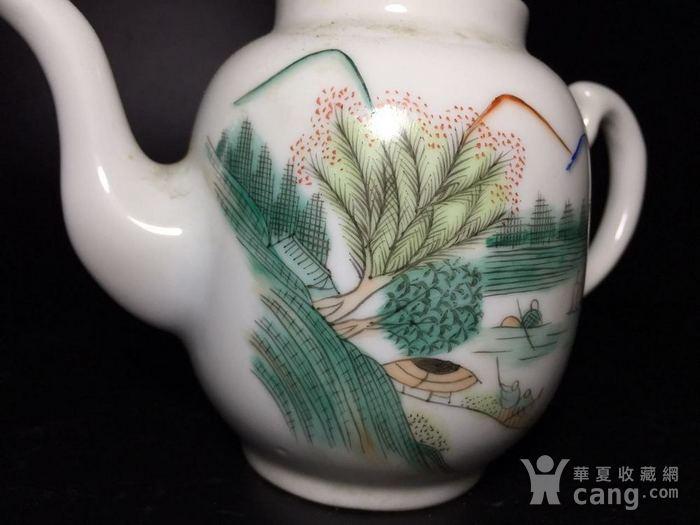民国 浅绛彩细瓷茶壶一把图2