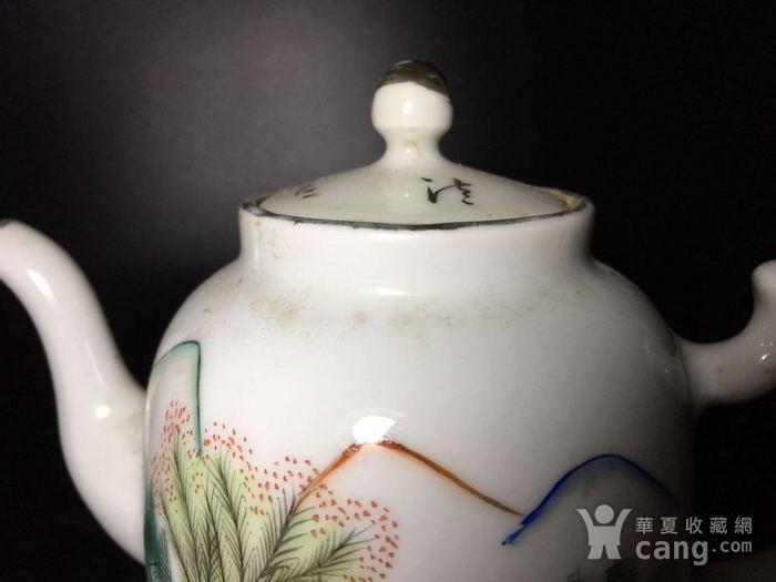 民国 浅绛彩细瓷茶壶一把图4