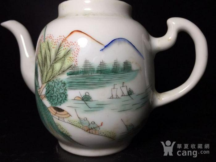 民国 浅绛彩细瓷茶壶一把图3