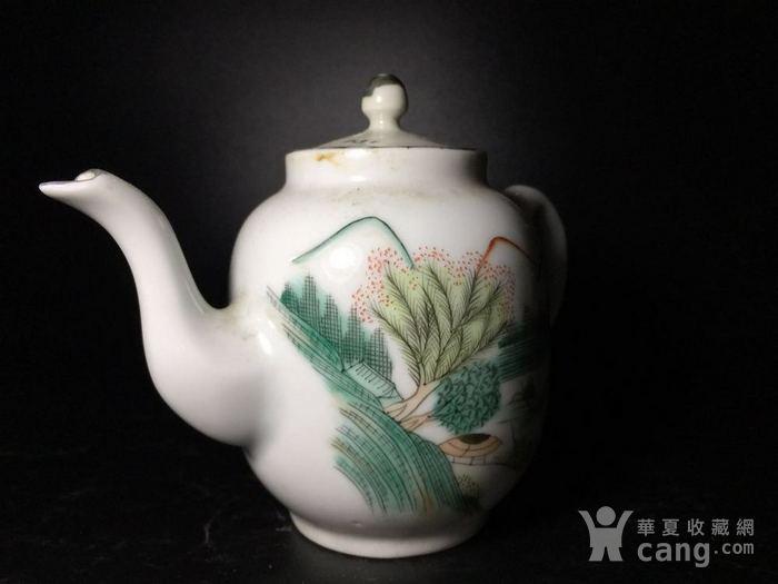 民国 浅绛彩细瓷茶壶一把图5