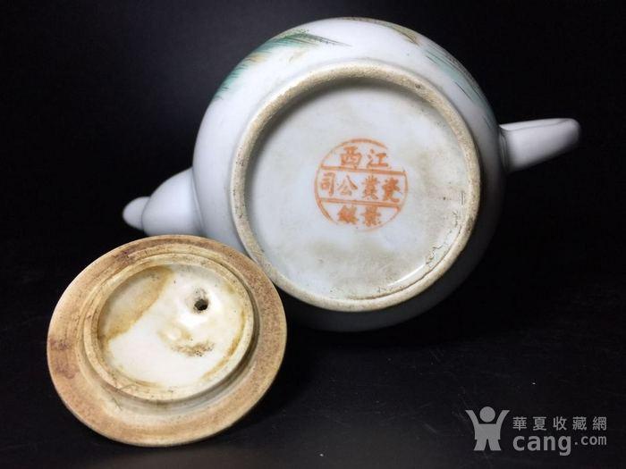 民国 浅绛彩细瓷茶壶一把图7