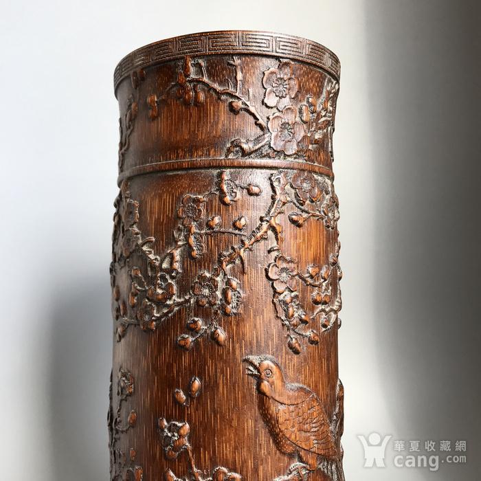 精品收藏级 清代竹雕帽筒图3