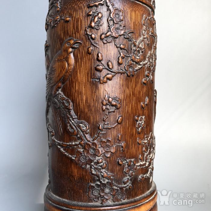 精品收藏级 清代竹雕帽筒图9