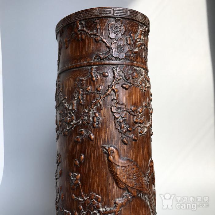 精品收藏级 清代竹雕帽筒图10