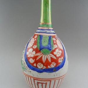 92.清代 五彩花卉胆瓶