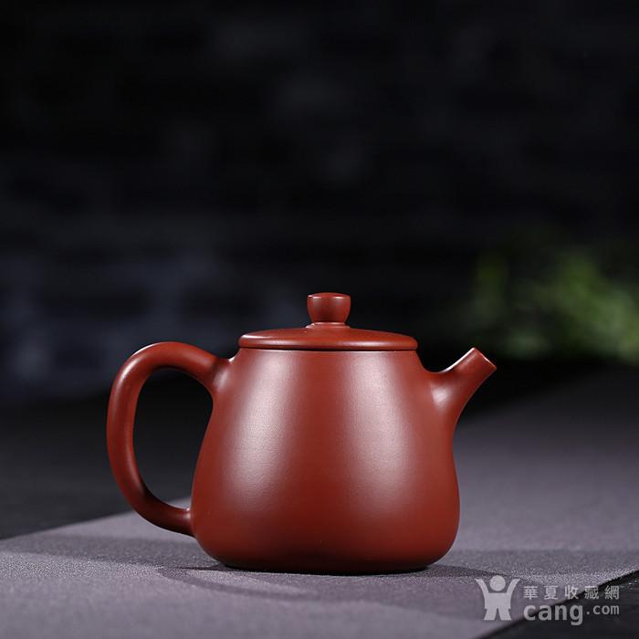 戴鹏飞 原矿朱泥大红袍  高石瓢壶图2