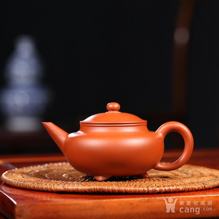 戴鹏飞 原矿朱泥  三足水平壶图1