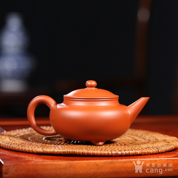 戴鹏飞 原矿朱泥  三足水平壶图2