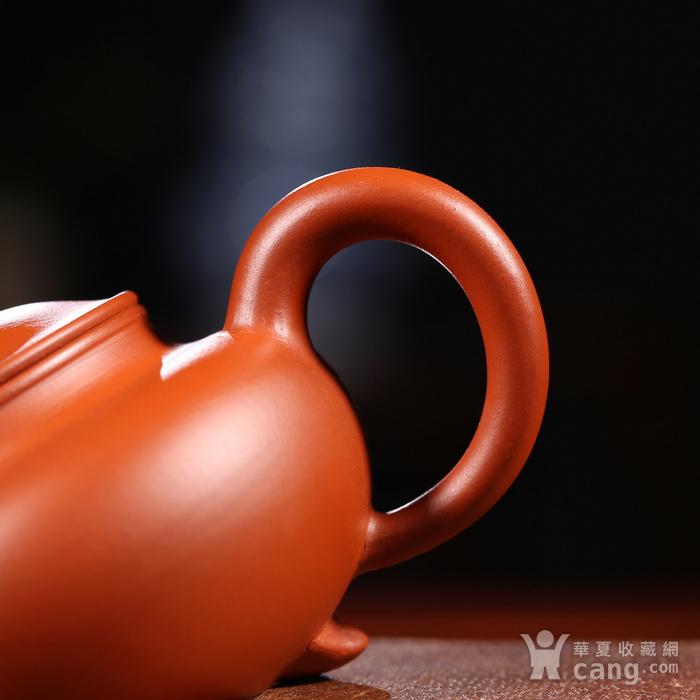 戴鹏飞 原矿朱泥  三足水平壶图5