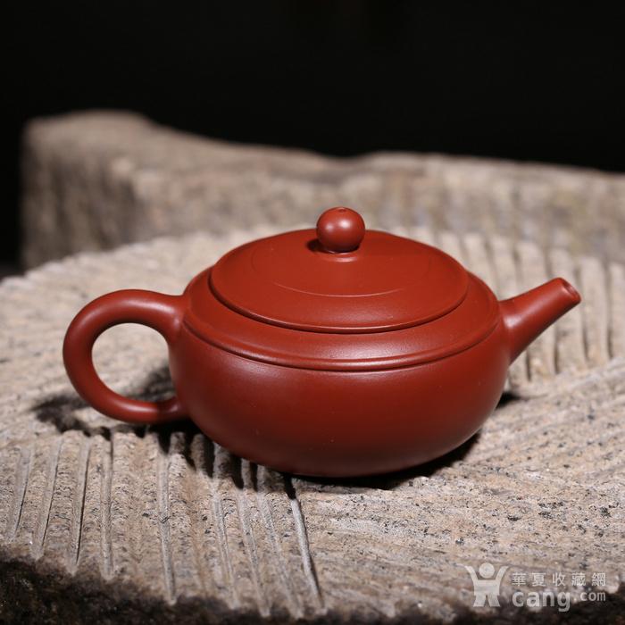 卢伟萍 原矿朱泥大红袍 双线壶图2