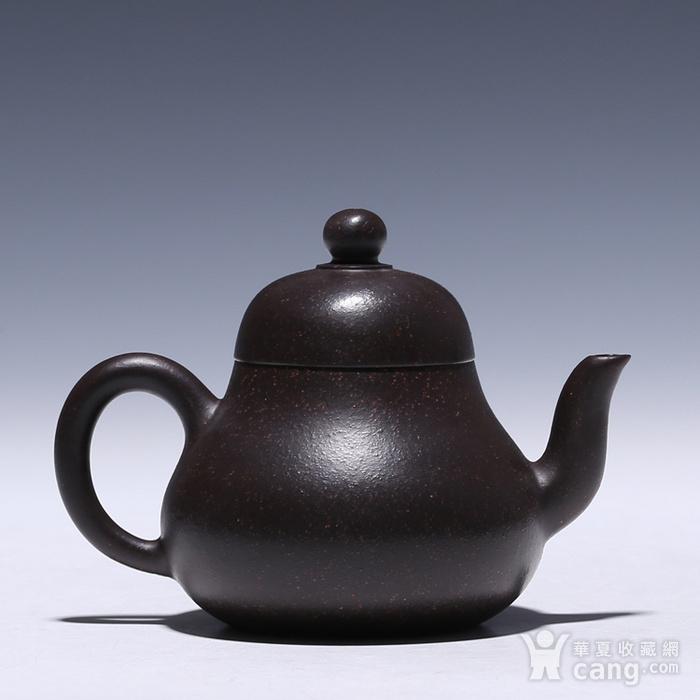 卢伟萍 原矿朱泥黑金刚 思亭壶图2