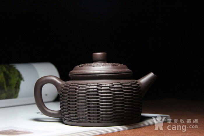 韩培东 原矿紫泥 竹编德钟壶图2