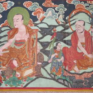 藏传格萨尔王典故唐卡 本网已鉴定