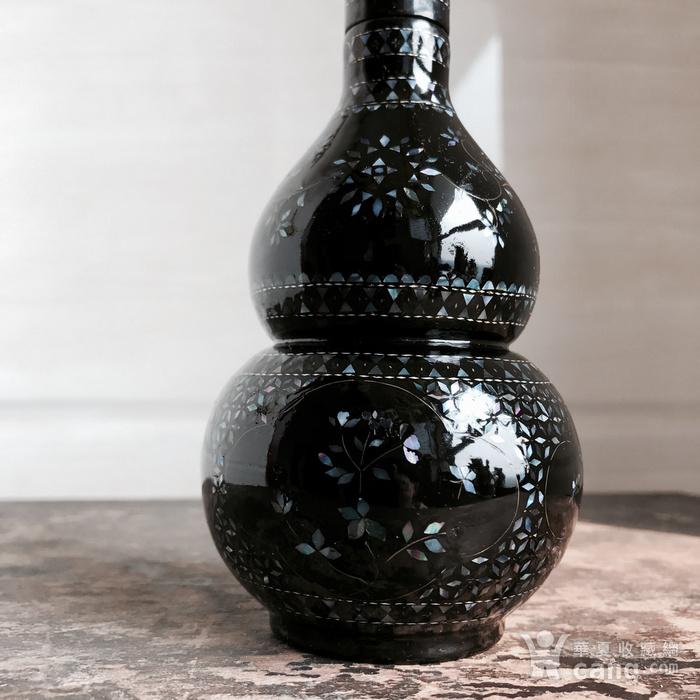 精品回流 民国 黑大漆嵌螺钿葫芦瓶图2