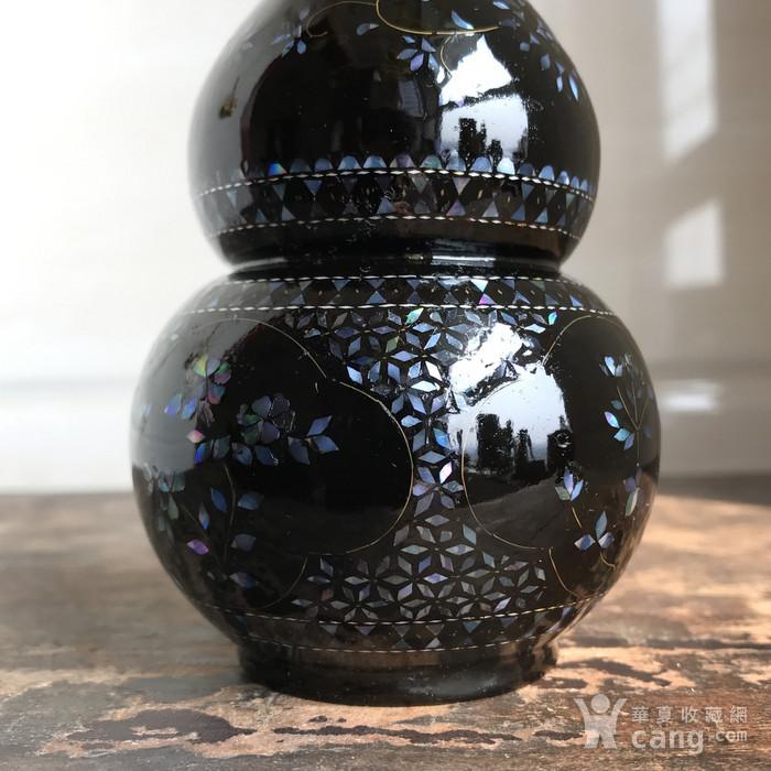 精品回流 民国 黑大漆嵌螺钿葫芦瓶图9