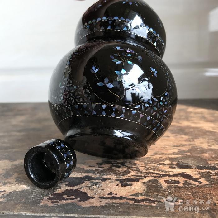 精品回流 民国 黑大漆嵌螺钿葫芦瓶图10