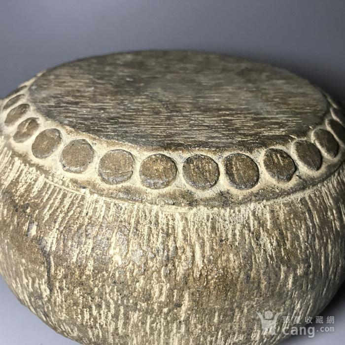 精品石雕 清代双兽头石鼓图5