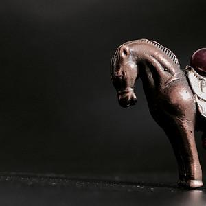 回流 清代小铜马一匹