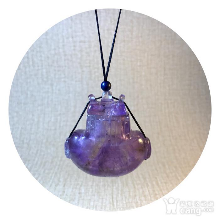 回流珍贵收藏 清紫水晶香囊图1