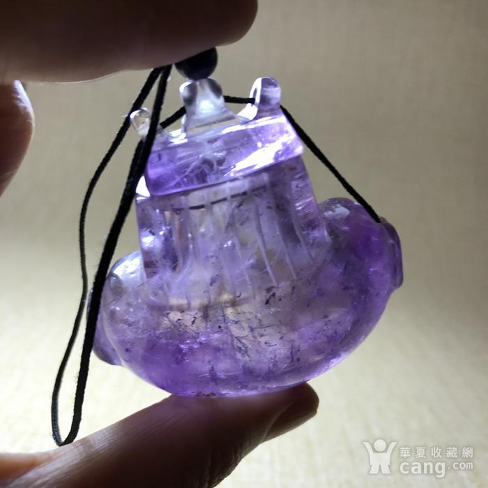 回流珍贵收藏 清紫水晶香囊图8