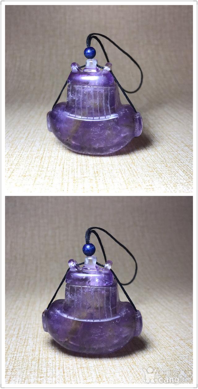 回流珍贵收藏 清紫水晶香囊图10