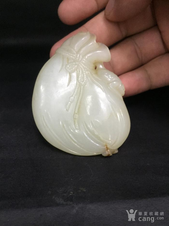 清代白玉籽料玉钱袋图7