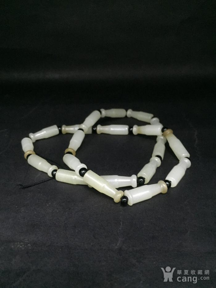 和田烟嘴形手链图1