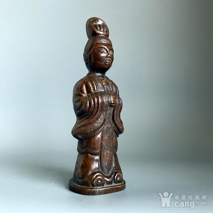 回流精品 百年铜质老将军俑造像图4