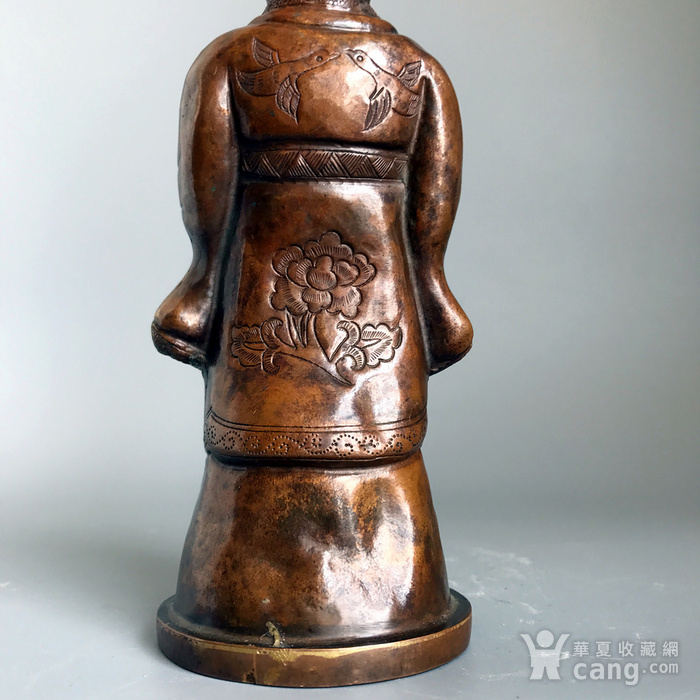 回流精品 百年铜质老将军俑造像图7