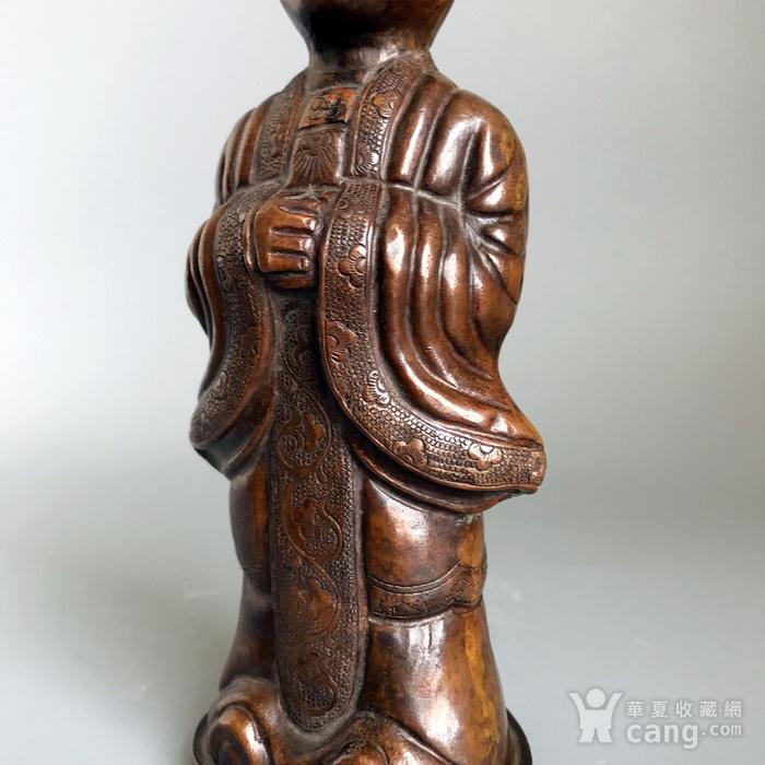 回流精品 百年铜质老将军俑造像图10