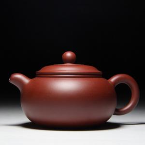 肖霞 原矿朱泥大红袍  双线壶