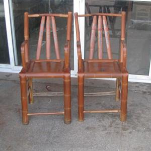*壳漂亮老竹小姐椅子一对