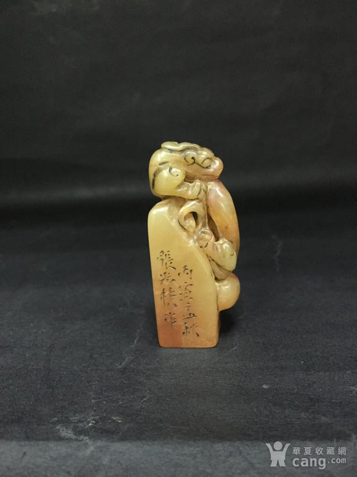 龙形寿山石印章图1